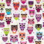 Coloful Cartoon Owls Cross Stitch Kits,egypt Cotton,14ct, 55x55 Cm 250x250 Stitch Counted Cross Stitch Kit