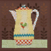 Coffee Server Beaded Counted Cross Stitch Kit Mill Hill 2016 Debbie Mumm Good Coffee & Friends DM301613