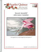 Scarlet Quince AUD017 Roseate Spoonbill by John James Audubon Counted Cross Stitch Chart, Regular Size Symbols