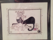 Kitty Cuisine -Cat Cross Stitch Kit 19cm 14cm