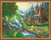 """Beaded DIY Embroidery Kit """"Mountain river"""""""
