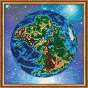 """Beaded DIY Embroidery Kit """"The Earth"""""""