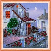 """Beaded DIY Embroidery Kit """"The pink Moon"""""""