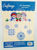 It's Snowing Wall Hanging - Snowman and Snowflakes 46cm X 50cm