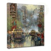 San Francisco, California Street - Thomas Kinkade 36cm x 36cm Gallery Wrapped Canvas