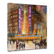 Thomas Kinkade Radio City Music Hall 36cm x 36cm Gallery Wrapped Canvas