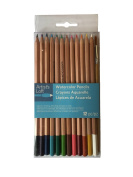 Artist's Loft Watercolour Pencils 12 Pack Coloured Pencils Plush Brush