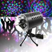 Noviame(TM)AU Plug New RGB 3W Crystal Magic Ball Laser Stage Lighting Effect For Party Disco DJ Bar Bulb Lighting Show C10