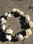 Ivory flower crown for music festival /wedding accessory / crown hair wreath /halo/ / Garden party/hippie flower crown /