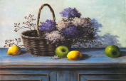 One Hippo Diy Painting Country Fruits Crystal Bling Diamond Painting Embroidery (1#