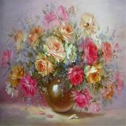 KINGSO DIY Oil Painting Paint By Numbers Kit Art Craft Vase Flowers 40*50cm