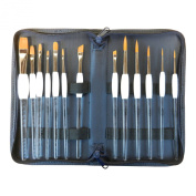 Rocket Gel Grip Ergonomic Arcylic Handle 13 Pcs Multi Media Brush Set with Free Zipper Case
