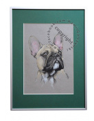 French Bulldog, unique graphics, mixed media, poster, limited edition collection