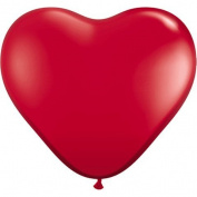 PIONEER BALLOON COMPANY Heart Shaped Latex Balloon, 15cm , Jewel Tone Ruby Red