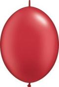 PIONEER BALLOON COMPANY Quick Link Latex Balloon, 15cm , Pearl Ruby Red