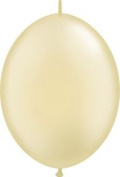 PIONEER BALLOON COMPANY Quick Link Latex Balloon, 15cm , Pearl Ivory