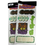 Studio G Cardstock Halloween Stickers - Scrapbook, Frame, Album Cover Embellishment - Bundle of 2
