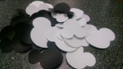 Assorted Mickey Mouse Head Shape Die Cuts - Black/white - 100pc