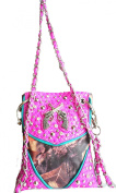 Western pink camo mossy oak gun pistol rhinestone cross body messenger purse bag