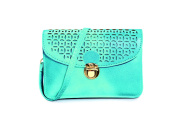 "Pixie Mood ""Vicky"" Teal Vegan Leather Pouch"