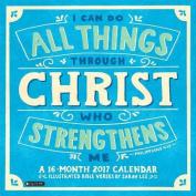 2017 I Can Do All Things Through Christ Wall Calendar