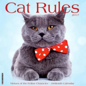 2017 Cat Rules Wall Calendar