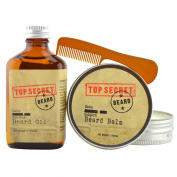 Beard Gift Set for Men - Beard 2 in 1 Conditioner and Beard Moisturiser - Great For Itch Relief and Beard Growth - Made With Natural Essential Oils - Pocket Beard Comb Included - 60ml Screw Top Tin