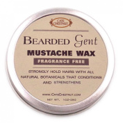 Bearded Gent Moustache Wax   Fragrance Free All Natural Hold and Conditioner
