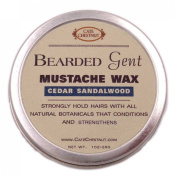 Bearded Gent Moustache Wax | Cedar Sandalwood All Natural Hold and Conditioner