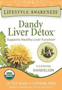 Lifestyle Awareness Teas Dandy Liver Detox Tea 20 Tea Bags Per Box