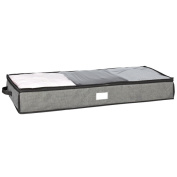 Kennedy Home Collection Grey 100cm UnderBed Storage Bag