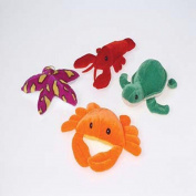 1 Dozen Adorable Plush Colourful Sea Creatures (10cm - 15cm ) /Crabs / Lobsters / Sea Turtles / Starfish / Gift / Ocean Theme / Party / Prize