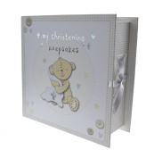 Button Corner Book Keepsake Box with Draws Christening Gift