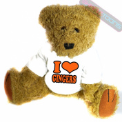 I Love Gingers Novelty Gift Teddy Bear