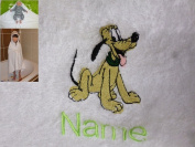 Hooded Towel with a PLUTO Logo and Name of your choice, 100x100cm, 0-5 years