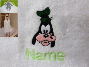 Hooded Towel with a GOOFY Logo and Name of your choice, 100x100cm, 0-5 years