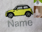 Hooded Towel with a MINI Logo and Name of your choice, 100x100cm, 0 - 5 years