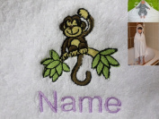 Hooded Towel with a CHIMP Logo and Name of your choice, 100x100cm, 0 - 5 years