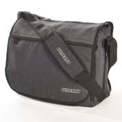 UNISEX BABY CHANGING BAG that Dads love too! LARGE Deluxe MESSENGER style in Grey/Black. 11 pockets & FREE Nappy Changing Mat & Insulated Bottle Bag worth £25. Funky, cool designer look from Filberry. TOP ZIP for quick access. Perfect for Men, Boys, Tw ..