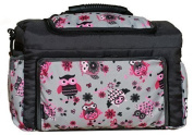 TK-38 nappy bag Kim by baby-joy xxxl tall graphite Grey Owl 4 Nappy Changing Bag Baby Bag Ttote Bag