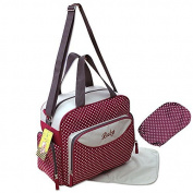 GMMH 2140 - 3-Part Baby Changing Bag, Bordeaux