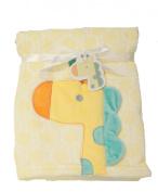 Supersoft Superior Quality Luxurious Yellow 3D Giraffe Pram/Crib Blanket