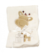 Supersoft Superior Quality Luxurious Cream With Cheeky Giraffe Pram/Crib Blanket