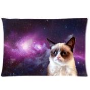 1 X Custom Grumpy Cat Pillowcase Standard Size Design Cotton Pillow Case