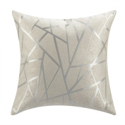 IYUEGO Modern Style White Striped Polyester Geometric Decorative Pillow Cover