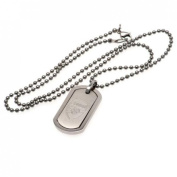 Arsenal F.c. Framed Dog Tag And Chain Stainless Steel Framed Dog Tag And Chain Dog Tag Approx 35mm