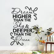 Wall Decals Quotes Decal Vinyl Sticker For Bedroom Decor Home Interior Design Art Mural (T37)