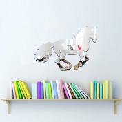 Funlife Kids Acrylic Mirror Horse Wall Decal or Wall Sticker