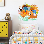 Noahs Ark wall sticker Nursery wall decal Childrens Wall Stickers, Multi-Colour Art 200