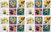 DESPICABLE ME STICKERS - Despicable Me Birthday Party Favour Sticker Set Consisting of 45 Stickers Featuring 6 Different Designs Measuring 6.4cm Per Sticker